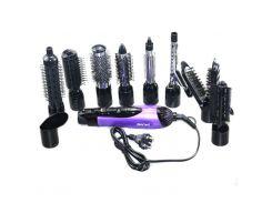 Воздушный фен-щетка стайлер для волос 10 в 1 Gemei GM 4835 Фиолетовый (200457)