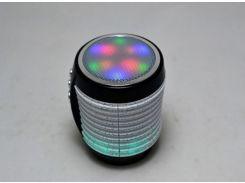 Портативная Bluetooth колонка WSTER WS-1805 со светомузыкой Черный (200529)