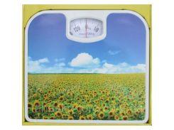 Весы напольные механические до 130 кг Good Idea с цветочками (hub_RAGe31447)