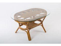 Обеденный столик Cruzo Аскания натуральный ротанг Коричневый (os320957)