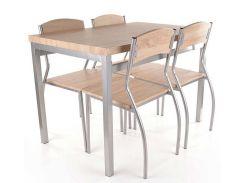 Комплект стол + стулья Signal Astro алюминий Дуб сонома (286793)