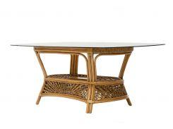 Обеденный стол на 8 персон Cruzo Ацтека натуральный ротанг Светло-коричневый (ok01368)