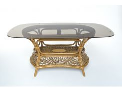 Обеденный стол на 6 персон Cruzo Ацтека натуральный ротанг Светло-коричневый (st0012a)