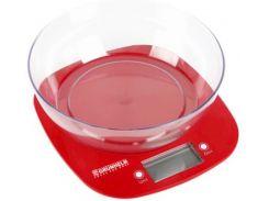 Весы для кухни GRUNHELM  KES-1PR Красный (70343)