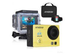 Экшн камера Action Camera Q3H с пультом 24 крепления Yellow (dr 53346)