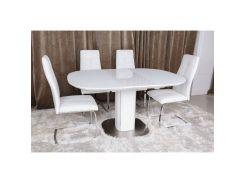 Стол обеденный раскладной Nicolas Boston Белый (45341)