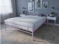 Кровать MELBI Лара Люкс Двуспальная 120х190 см Розовый