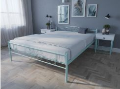 Кровать MELBI Лара Люкс Двуспальная 120х190 см Бирюзовый