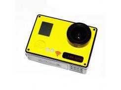 Видеокамера Noisy F73 Wi-Fi 4K 2 экрана с пультом Yellow (3sm_918362653)