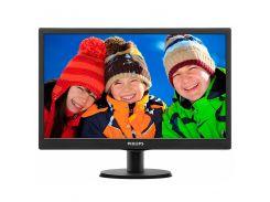 Монитор  PHILIPS 193V5LSB2/62 18.5 дюймов TFT LED VGA 1366 x 768 Black (478-261)