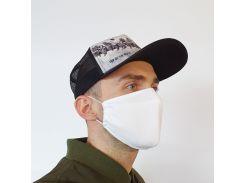 Маска защитная Золушка на лицо многоразовая 2-х слойная Белая (М2003)