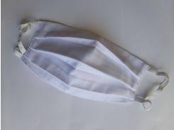Набір багаторазових захисних масок marlev під фільтр 10 шт Білий (0012)