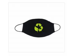 Набір багаторазових масок png.print екологічні принти 5 шт Чорний (0017)