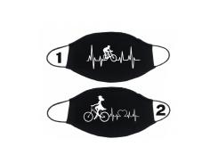 Маска png.print для велосипедиста 2 шт Черная (0021)