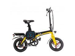 Электровелосипед Zhengbu D8 Matt Series Черный с желтым (298386)