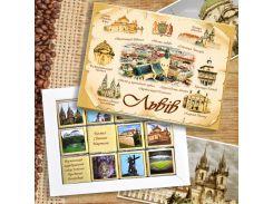Шоколадний набір Aromisto Львів Молочний шоколад 60 г (104230)