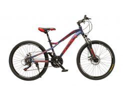 """Велосипед Oskar 24""""FLAME Синий (24-m121-bl)"""