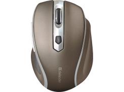 Мышь Defender Safari MM-675 Wireless Brown/Grey (52678)