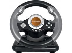 Проводной руль Defender Challenge Mini LE USB Черный (64351)