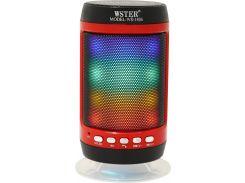 Портативная Bluetooth колонка со светомузыкой WSTER WS-1806 Black (111278)