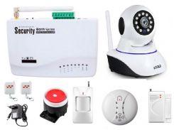 GSM сигнализация Kerui G10A + WI-Fi IP камера для одно комнатной квартиры (SDJKSF67DJFD)