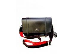 Женская сумка Polina&Eiterou 23х35 см Черная (01082)