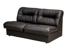 Модульный двухместный диван Премьера Плаза 2 1640х950х890 мм Черный (hub_ZZDc24652)