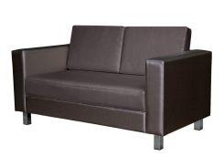 Двухместный офисный диван Премьера Твист 2 1490х760х810 мм Коричневый (hub_RpQc95434)