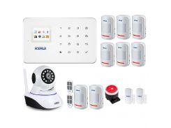 Комплект сигнализации GSM KERUI G18 + WI-FI ІР камера mega max (JJDFYFYG788DF)
