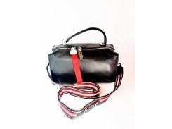 Кожаная женская сумка PolinaEiterou Черный (01012)