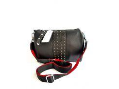 Кожаная женская сумка Farfalla Rosso Черный (01102)