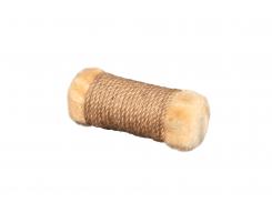 Игрушка для кошек Мур-Мяу Цилиндр-2 в джутовой веревке Бежевая (hub_RueY63532)