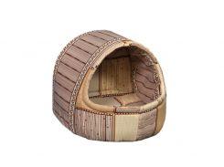 Домик-лежак для домашних животных Мур-Мяу Комфорт Мини Бежевый (hub_TvPO03200)