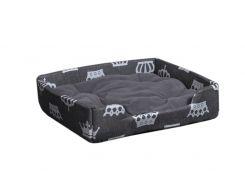 Лежак для домашних животных Мур-Мяу Пижон-1 Серый (hub_pvIX53594)