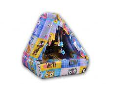 Лежак для домашних животных Мур-Мяу Котик Разноцветный (hub_xMFR40234)