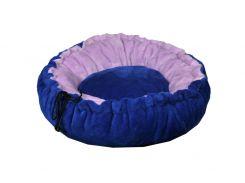 Лежак для домашних животных из меха Мур-Мяу Релакс Синий (hub_fiQA81036)