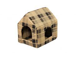 Домик-лежак для домашних животных Мур-Мяу Будочка Бежево-коричневый (hub_cLan81512)