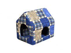 Домик-лежак для домашних животных Мур-Мяу Будочка Синий (hub_hHKg16821)