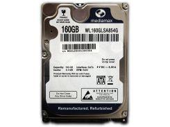 "Накопитель HDD 2.5"" SATA 160GB Mediamax 5400rpm 8MB (WL160GLSA854G) - Refubrished"