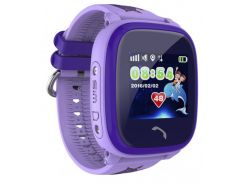 Детские умные часы-телефон с GPS трекером водонепроницаемые Smart Watch Aqua Q300-DF Фиолетовые