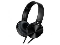 Наушники гарнитура Kronos Extra Bass MDR-XB450 Black (sp_3370)