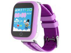 Детские умные смарт часы с GPS Smart Baby Watch Q100-PLUS Сиреневые