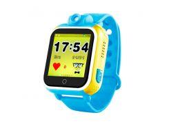 детские часы с gps smart baby watch q200 голубые (tdx0000285)