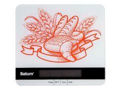 Весы кухонные SATURN Белый (ST-KS7807)