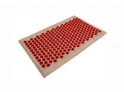 Массажный коврик Onhillsport Lounge Medium аппликатор Кузнецова 68 х 42 см Красный (LS-1001-1)