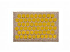 Массажный коврик Onhillsport Lounge Mini аппликатор Кузнецова 32 х 21 см Желтый (LS-1002-3)