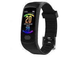 Фитнес браслет Smart Band UMax ET08 Тонометр + ЭКГ + PPG Черный (hub_QAID66939)