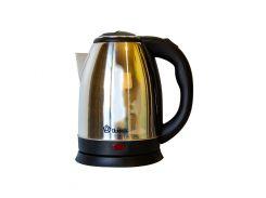 Электрический чайник Domotec 2 л Черный с серебристым (2257)