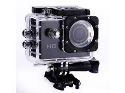 Видеокамера Экшн камера Action Camera D600 с боксом и креплениями Черный