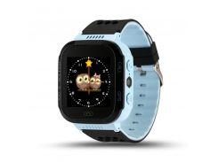 Детские умные водонепроницаемые смарт-часы с GPS/LED-фонариком Q529 шагомер будильник Blue (SWQ529B)